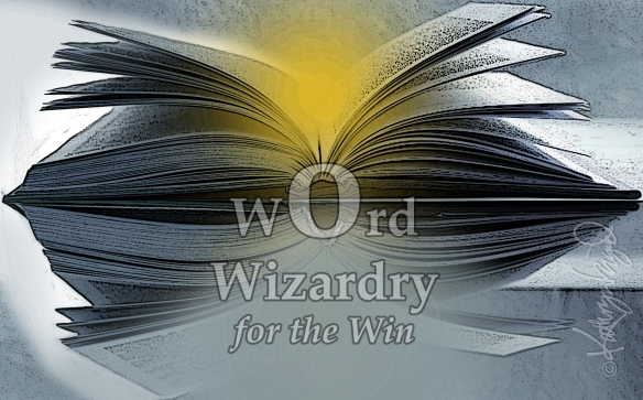 Digital illo: Word Wizardry