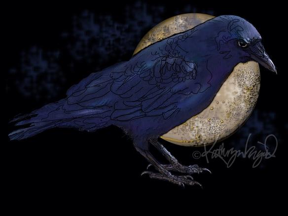 Digital illo: Clever Bird!