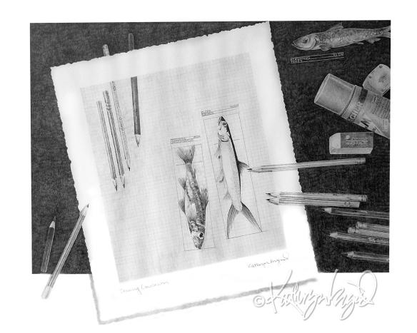 Graphite drawing: Before