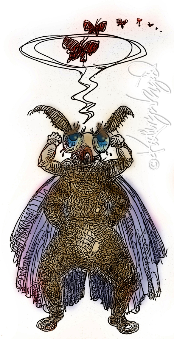 Digital illo: Another Moth Myth