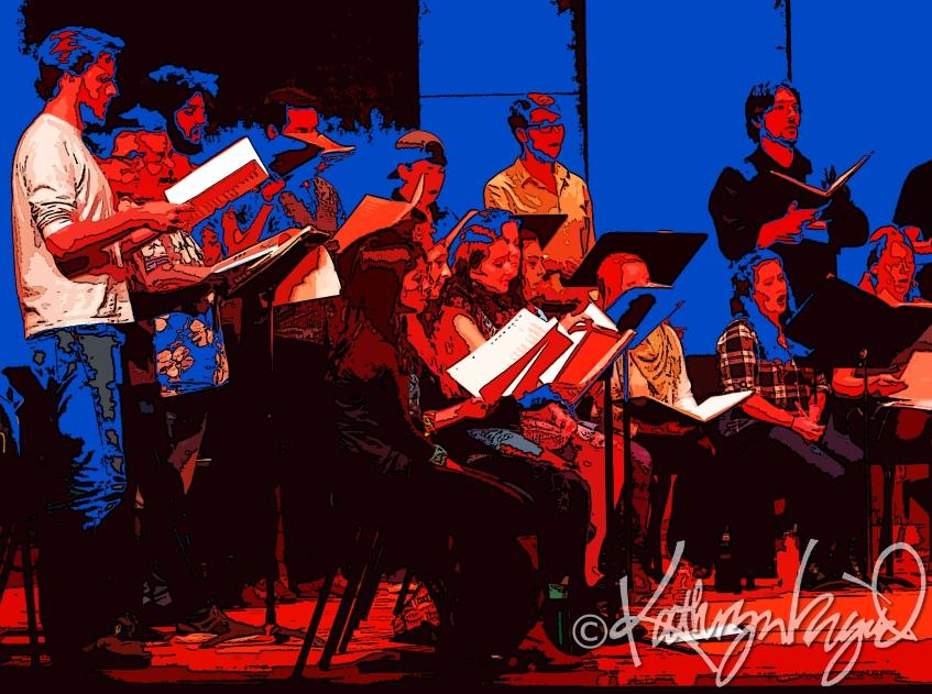 Digital illo from a photo: A Cappella Harmony