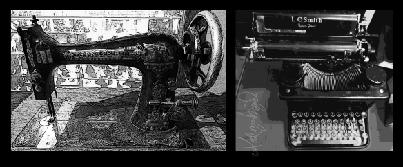 Digital montage from photos: Mighty Machines